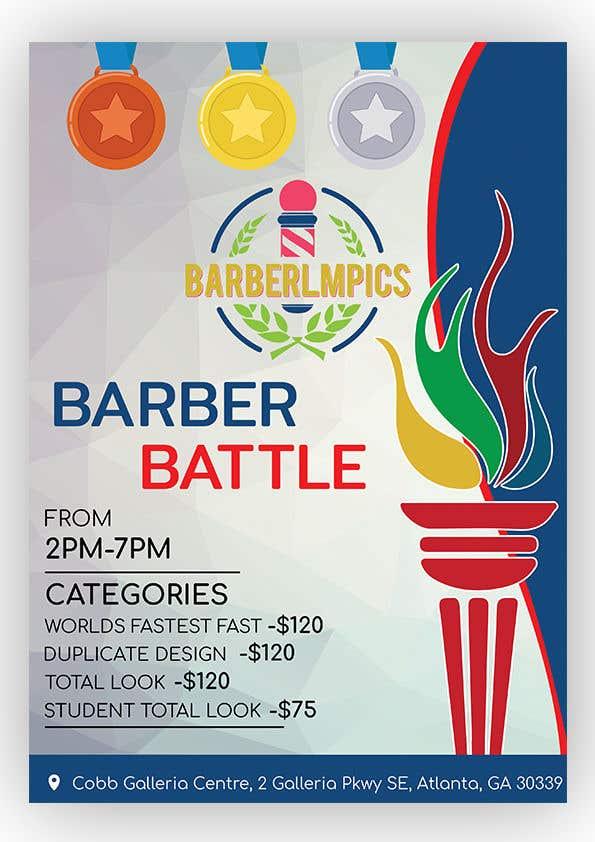 Kilpailutyö #56 kilpailussa event flyer barber battle