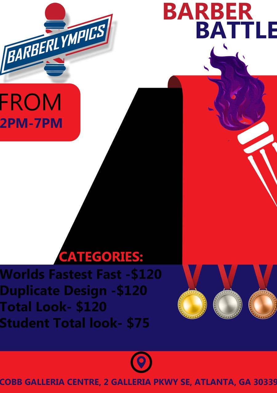 Kilpailutyö #48 kilpailussa event flyer barber battle