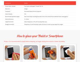 #27 untuk Design a landing page to sell one product: oleophobic touchscreen coating oleh rajbevin