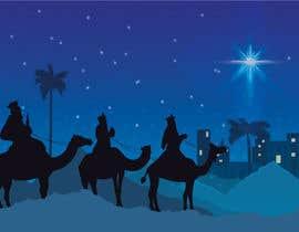 nº 15 pour Illustration of three wise men on camels par SondipBala