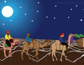 #6 untuk Illustration of three wise men on camels oleh ashfaqadil54