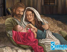 #16 for Illustration of Nativity scene with three faces (portrait work) af infotechshivia18