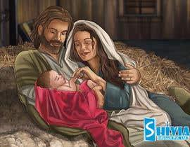 Nro 16 kilpailuun Illustration of Nativity scene with three faces (portrait work) käyttäjältä infotechshivia18