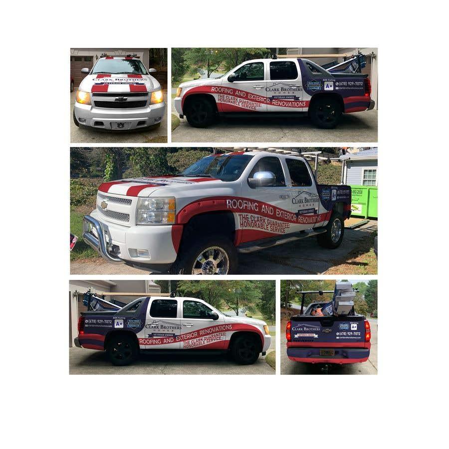 Penyertaan Peraduan #45 untuk Vehicle Truck Wrap Design Needed