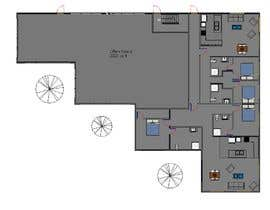 nº 18 pour Floor plan for small mixed-use building par bilro