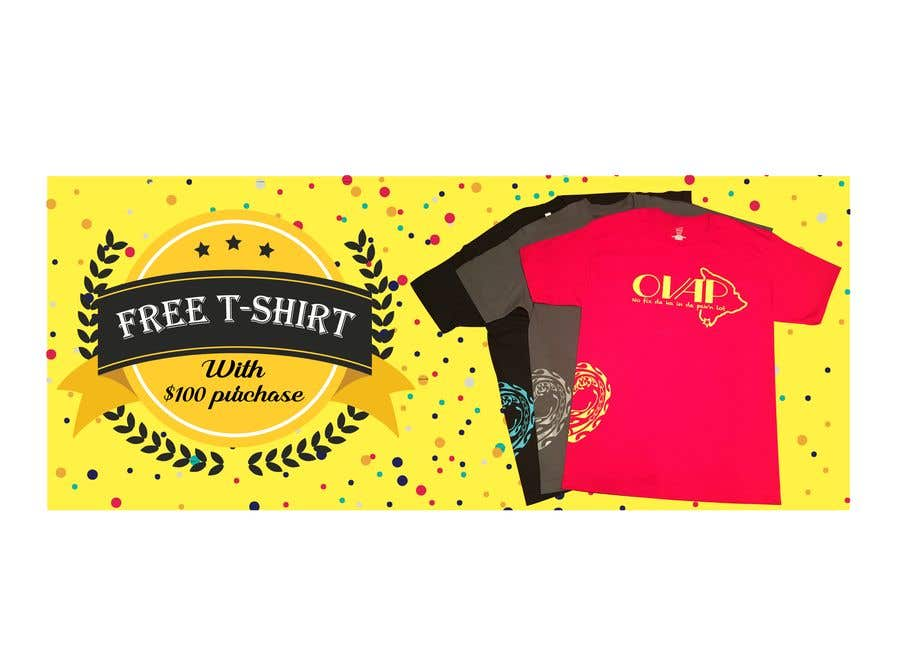 Kilpailutyö #117 kilpailussa Free T-Shirt banner