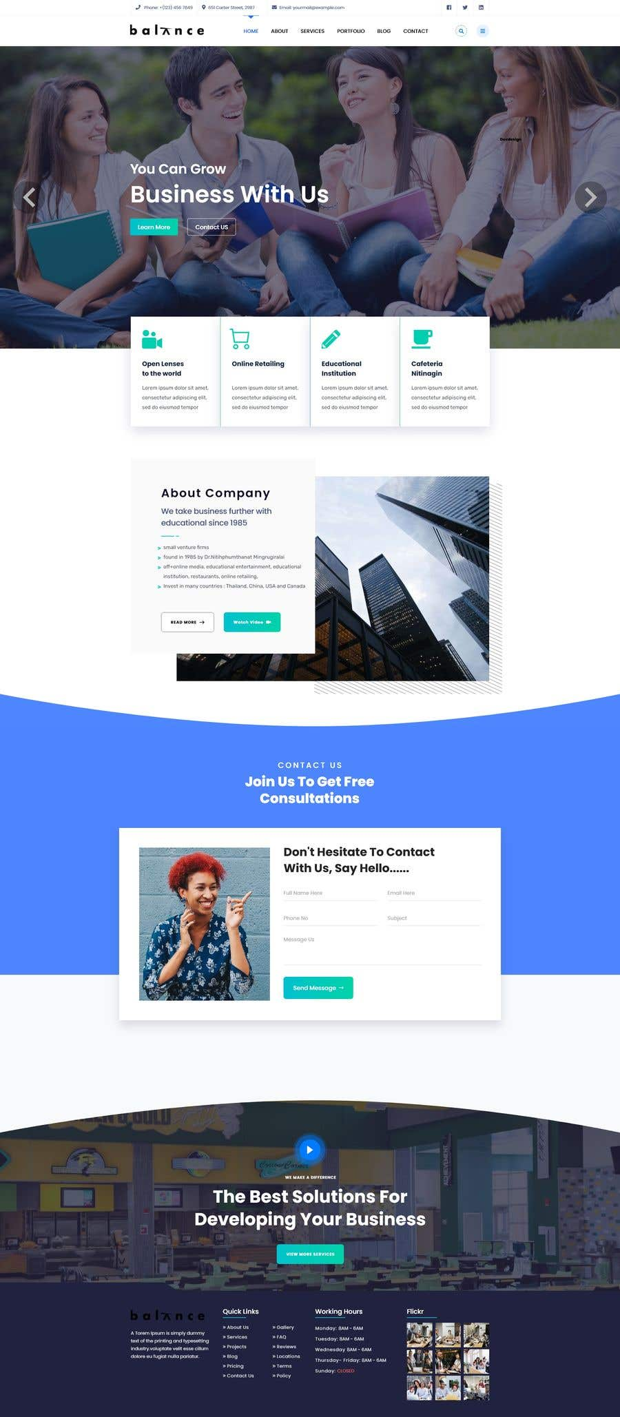"""Konkurrenceindlæg #                                        20                                      for                                         Design me a front page of a Corporate Website """"Balance"""". Winner get a 400$ whole project!"""