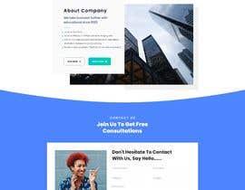 "meitrisyani19 tarafından Design me a front page of a Corporate Website ""Balance"". Winner get a 400$ whole project! için no 20"