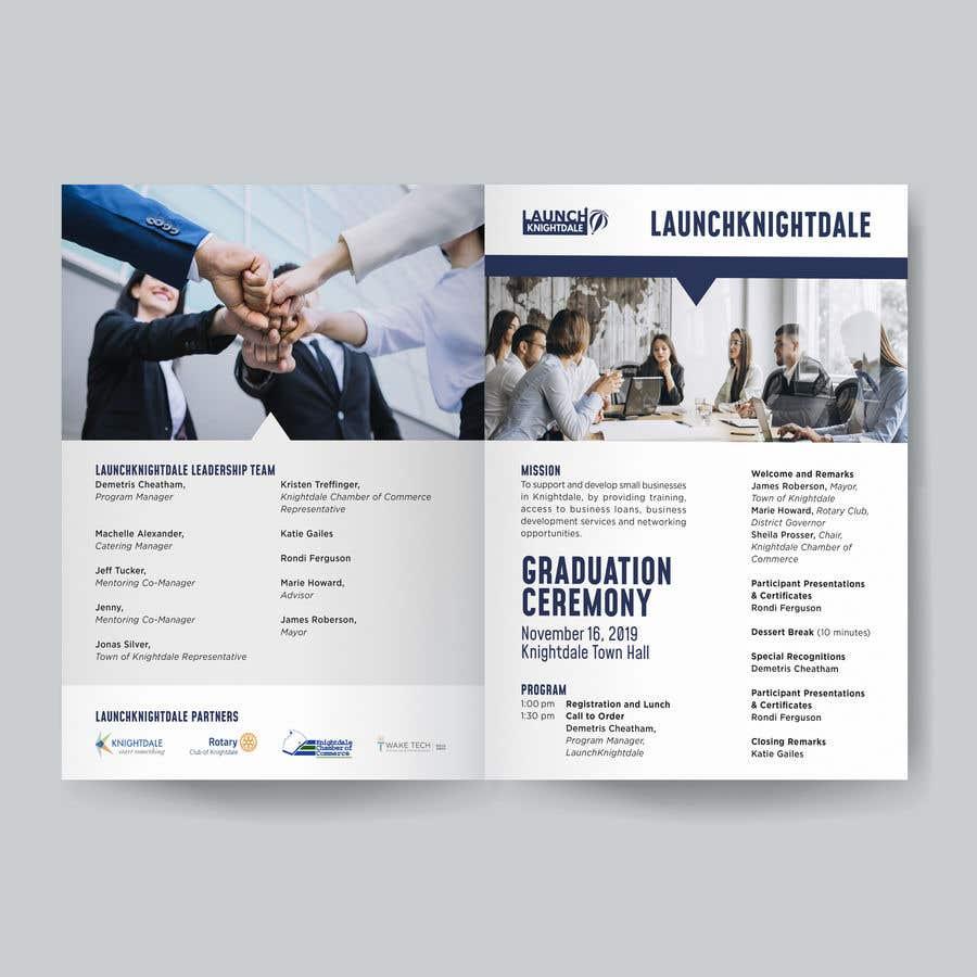 Konkurrenceindlæg #19 for 4 page program book