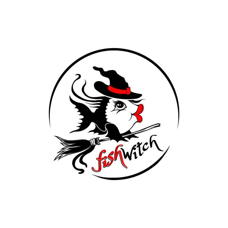 Penyertaan Peraduan #72 untuk Fishwitch Logo/Illustration