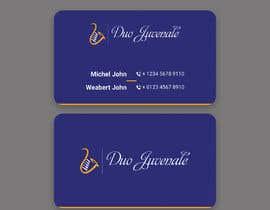 khumayun1978 tarafından Make a business card for musical duo için no 186