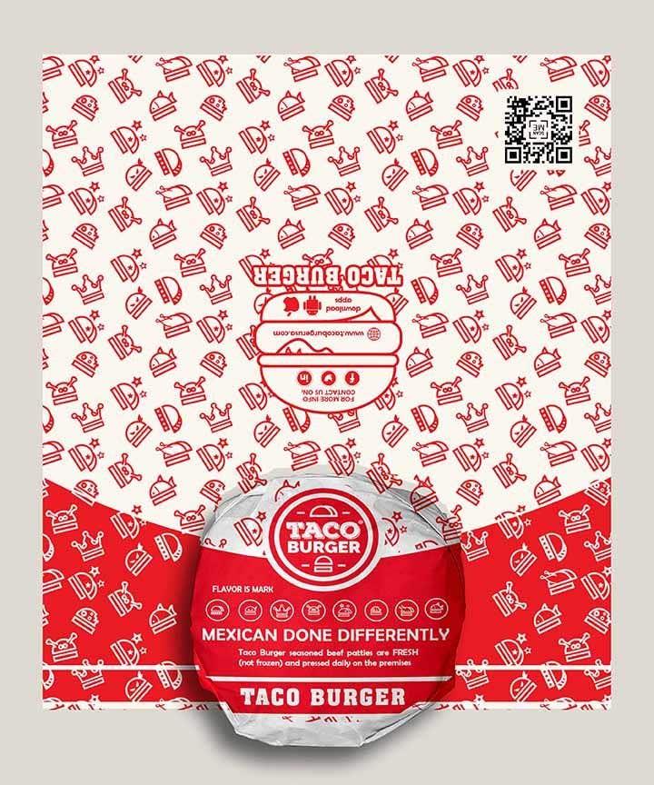 Kilpailutyö #47 kilpailussa Taco Burger Wrapper Design
