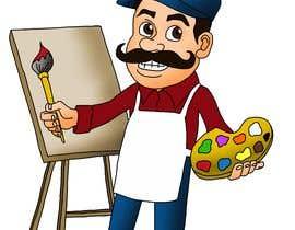 #40 for Cartoon character design - diseño de pintor caricatura by gudniuscomics