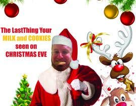 #8 cho I'd like a Santa hat photo shopped on both pictures of the guy and then combined together with the text shown on the first picture. This will be a Christmas card so feel free to add other Christmas-like images like lights around the photo...etc. bởi mohamedsobhy1530