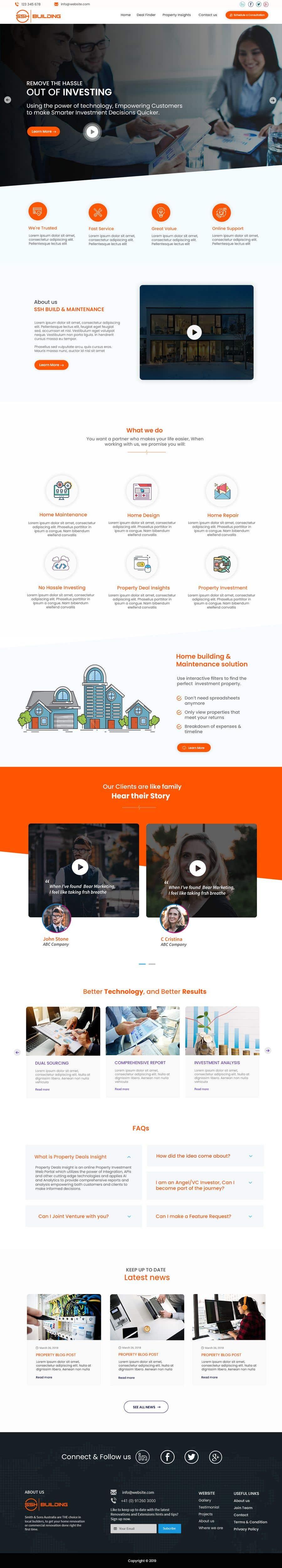Конкурсная заявка №14 для Website Design & Build - Building Maintenance Company