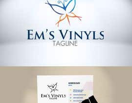 "#24 untuk I want a logo that says ""Em's Vinyls"" I want it to be feminine. I love the colors olive green, and white. I love boho and farmhouse style. I am using this logo for my business of vinyl cups, tshirts, car decals, etc.  - 17/11/2019 12:37 EST oleh DesignTraveler"
