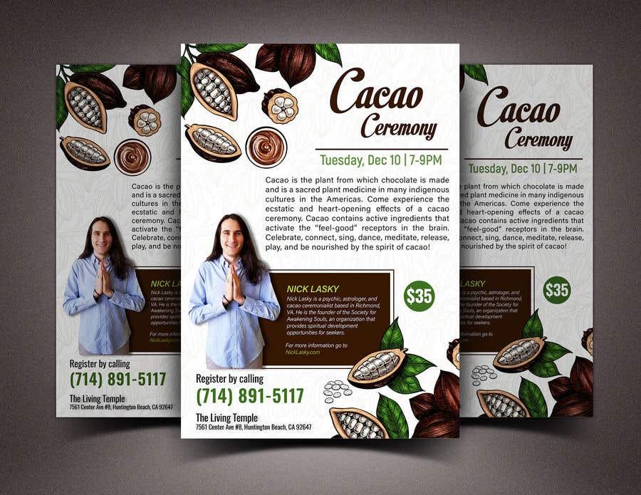 "Intrarea #58 pentru concursul ""Flyer for Cacao Ceremony"""
