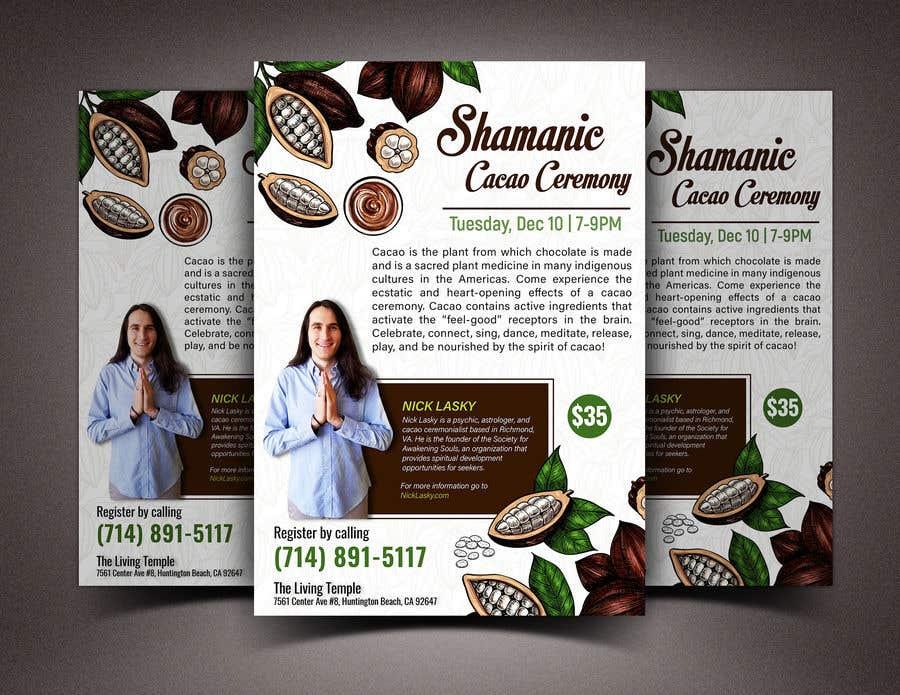 "Intrarea #60 pentru concursul ""Flyer for Cacao Ceremony"""