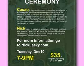 #51 pentru Flyer for Cacao Ceremony de către bayazidfarazi