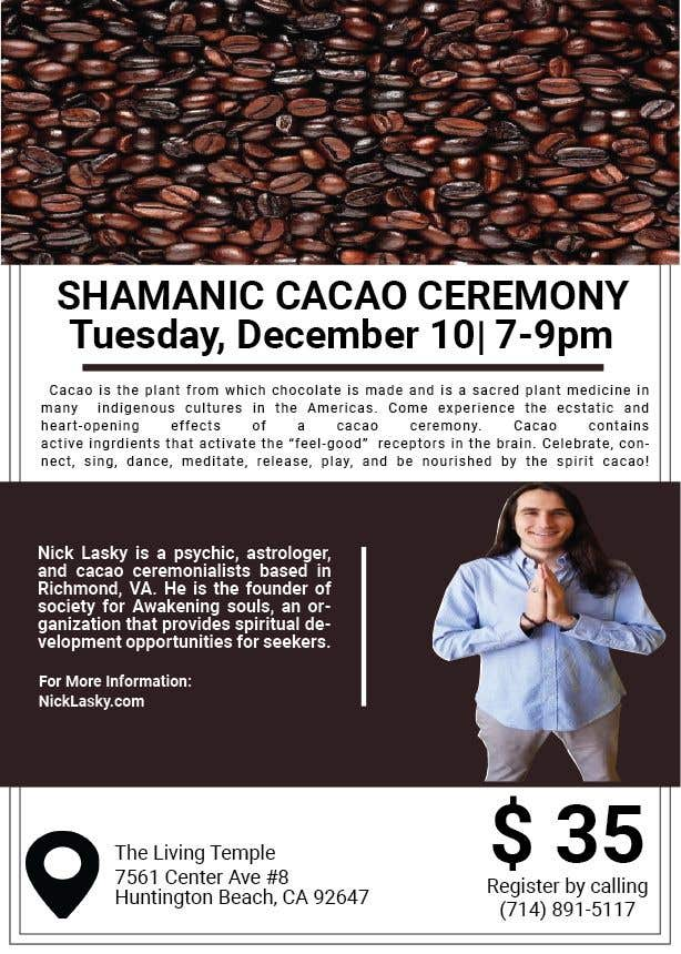 "Intrarea #9 pentru concursul ""Flyer for Cacao Ceremony"""