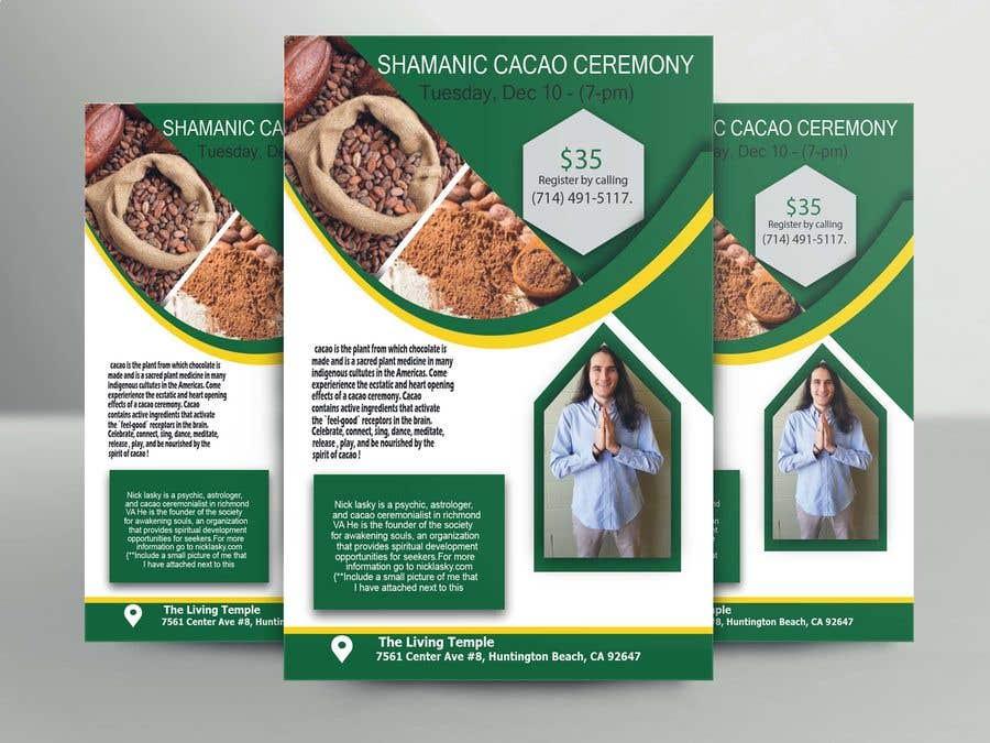 "Intrarea #55 pentru concursul ""Flyer for Cacao Ceremony"""