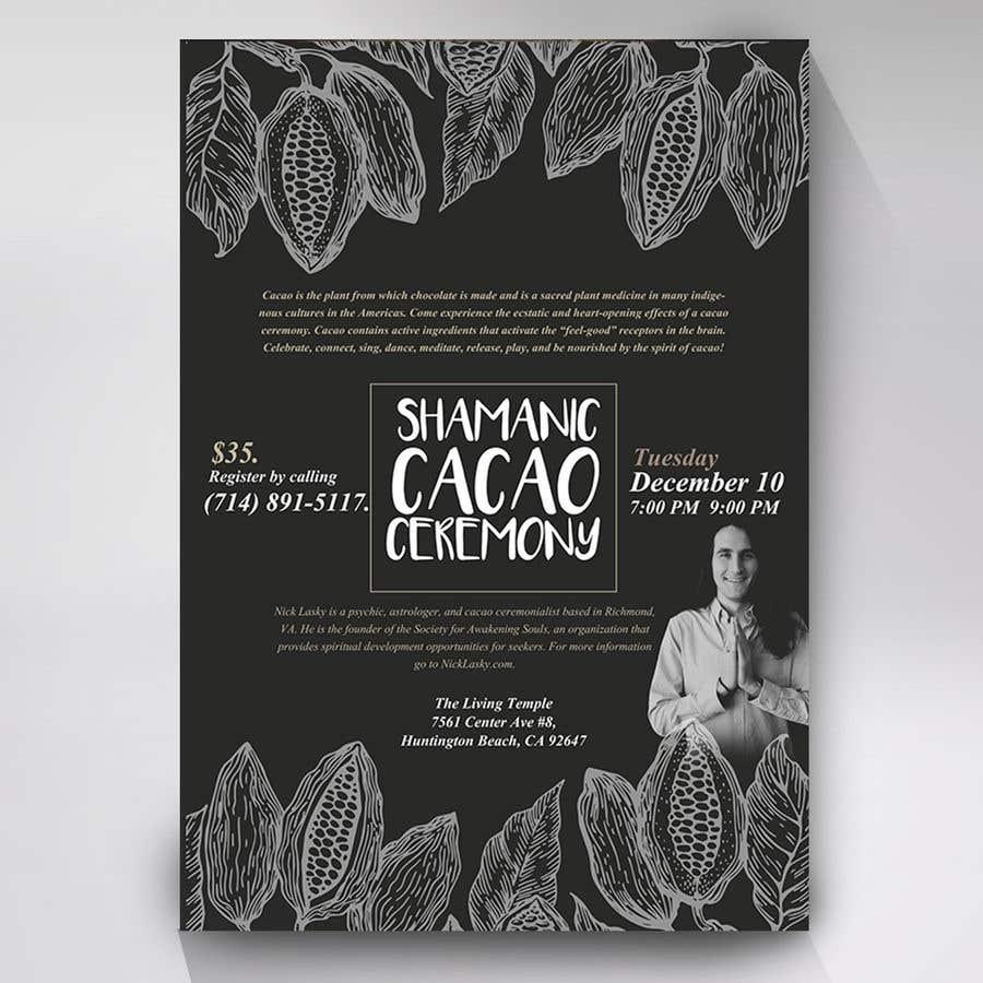 "Intrarea #71 pentru concursul ""Flyer for Cacao Ceremony"""