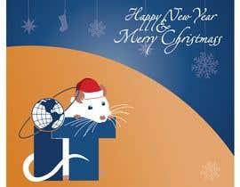 #44 cho Design Christmas logo and Christmas card in blue colors bởi LiberteTete