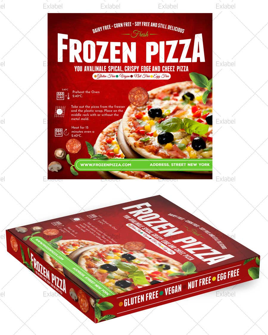 Конкурсная заявка №39 для Pizza Packaging Design