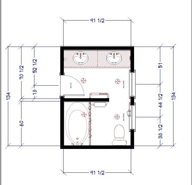 Bài tham dự cuộc thi #12 cho 2D & 3D Bathroom Rendering Design In Color & Floor Plan-3 Different Views