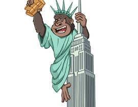 #12 для Vector: King Kong on Empire State Building with additional details от gumelarkrisna1