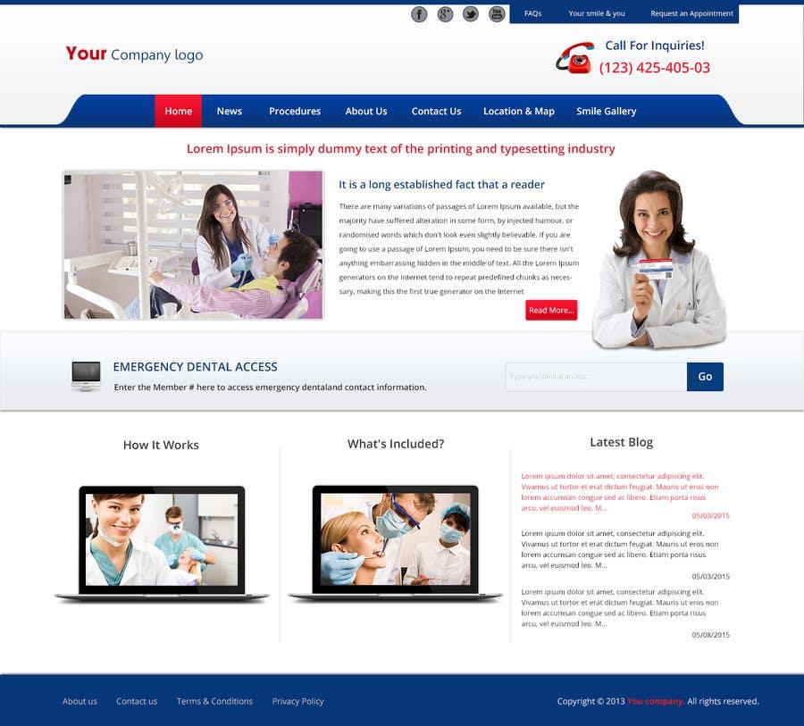 Entry 48 By Addydesignbegins For Design A Website Mockup For A Simple Dental Office Website Design