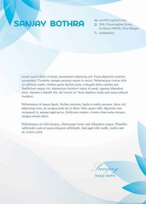 Konkurrenceindlæg #                                        180                                      for                                         Letterhead design