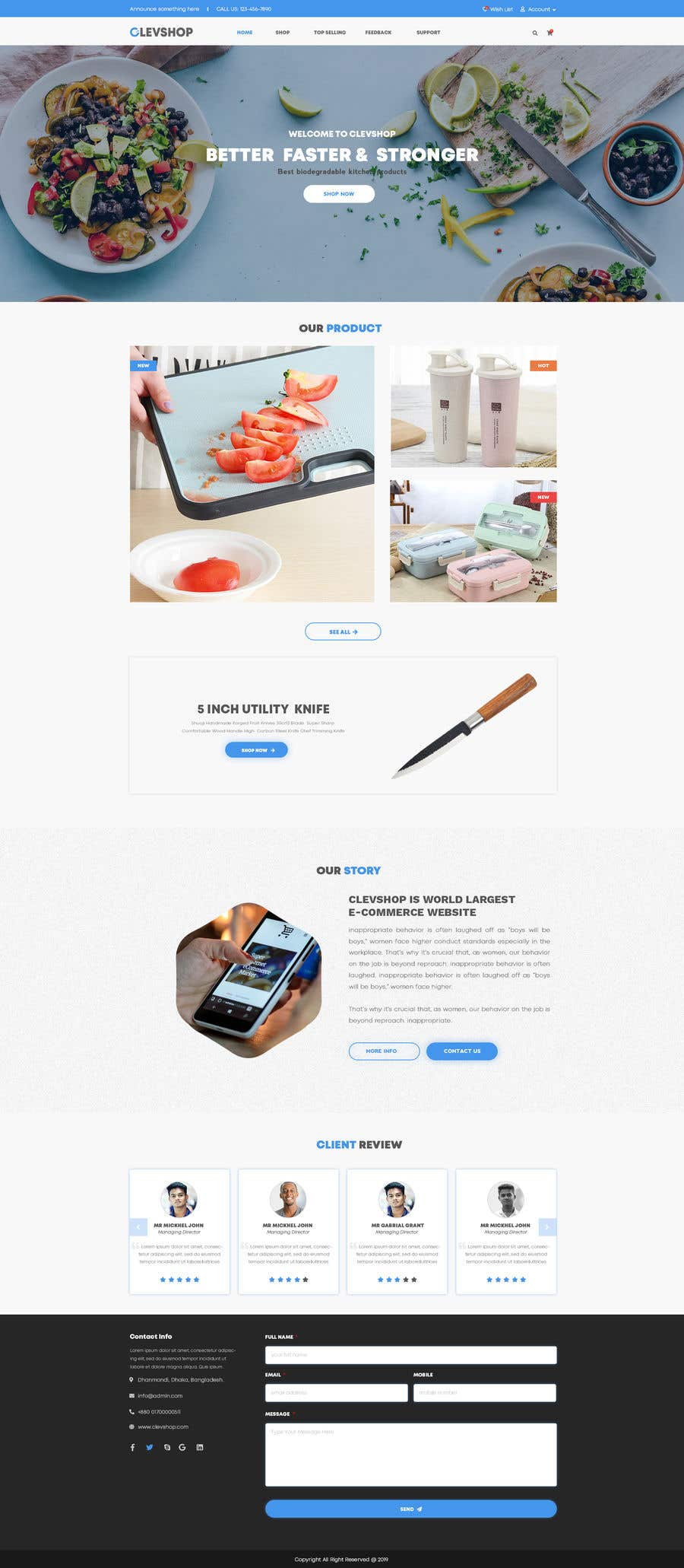 Contest Entry #46 for Cool Website Design for Store