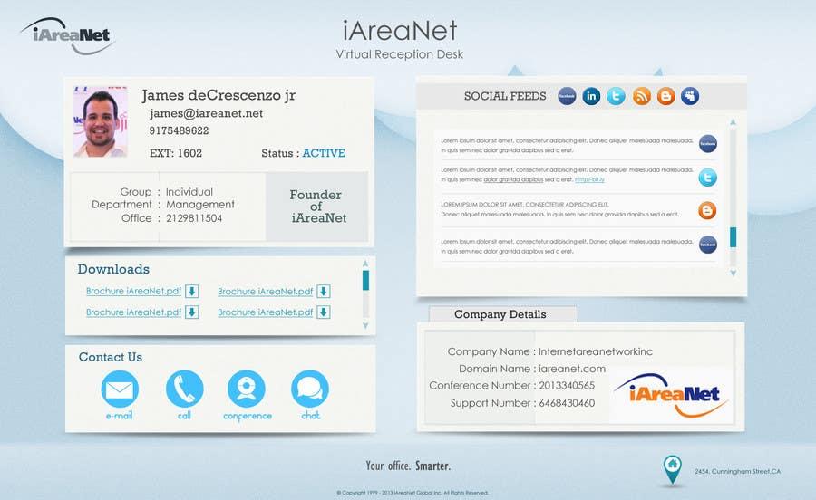 Contest Entry #                                        19                                      for                                         Web Reception Desk/Card Design for iAreaNet