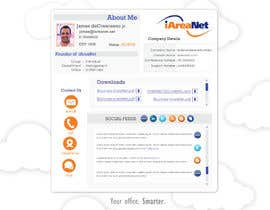 nº 29 pour Web Reception Desk/Card Design for iAreaNet par patrick12691