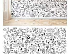 #13 cho Doodle art needed for 10ft by 15ft wall bởi BadWombat96