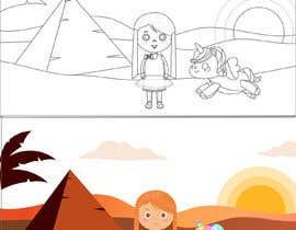 #29 for Colouring eBook Illustration for Kids (Girl & Her Unicorn) by NicoleGuo7