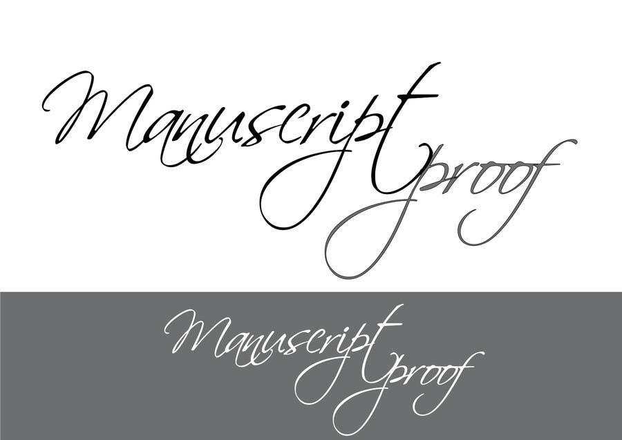 Bài tham dự cuộc thi #                                        75                                      cho                                         Logo Design for Manuscript Proof