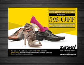 #9 untuk Flyer Design for the opening of a shoe warehouse outlet oleh mishyroach