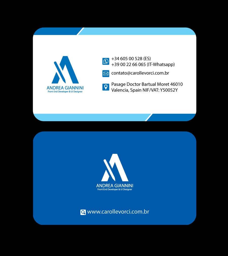 Contest Entry #271 for Andreality business cards