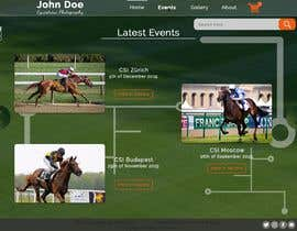 #17 for Web(shop) design for a equestrian sport photographer (only the design) af TheTravLRD