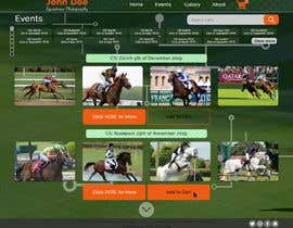 #18 for Web(shop) design for a equestrian sport photographer (only the design) af TheTravLRD