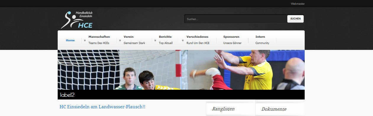 Contest Entry #                                        4                                      for                                         Logo integration into existing html template for a local sports club (handball)