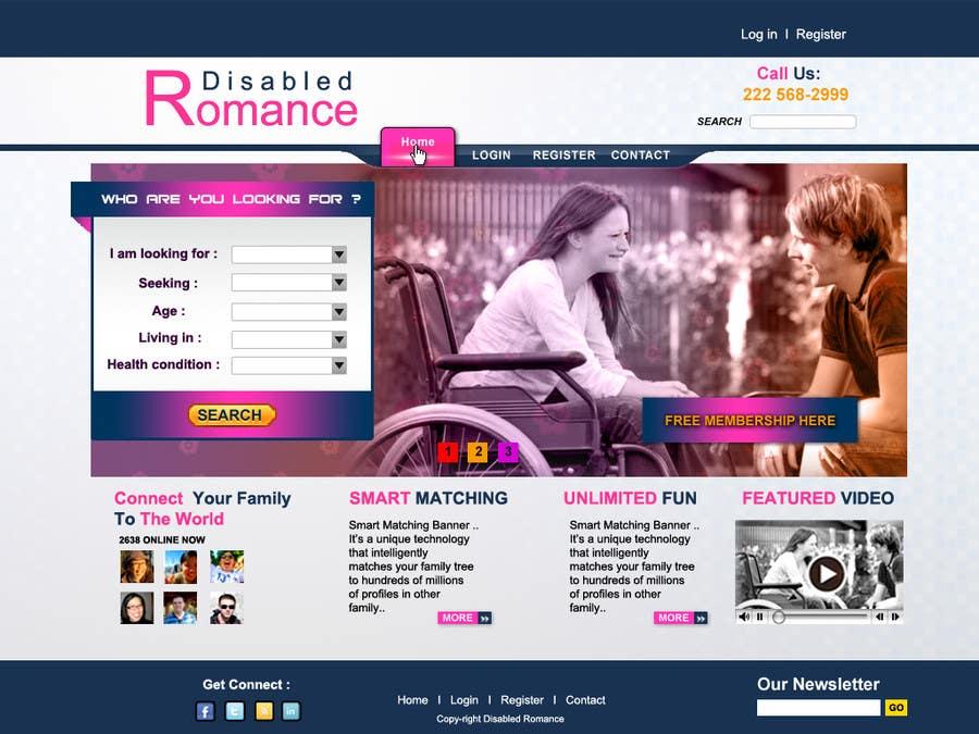 Bài tham dự cuộc thi #31 cho Website Design for Dating website homepage