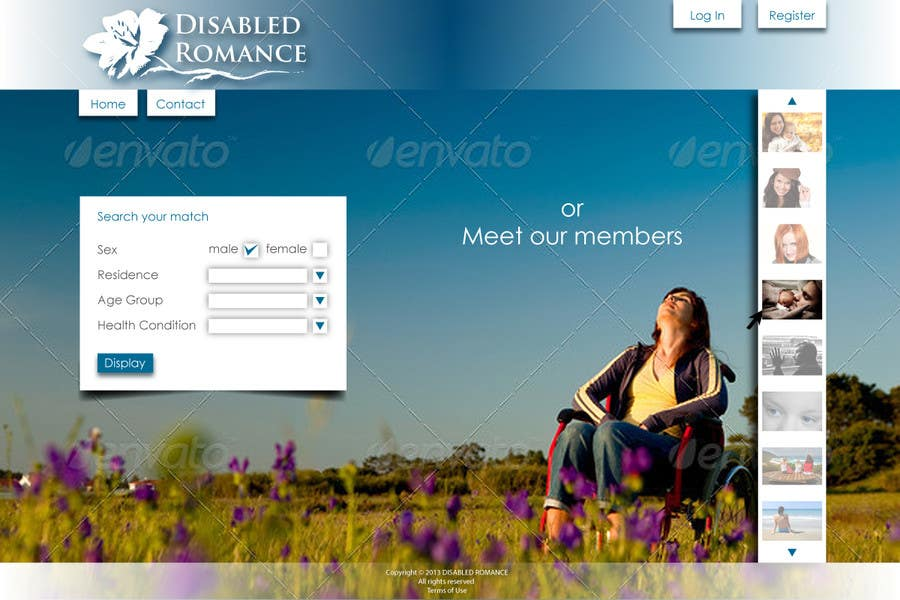 Inscrição nº                                         6                                      do Concurso para                                         Website Design for Dating website homepage