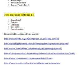 nº 5 pour Family Tree Software Analysis par biswajitmoonlit