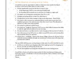#17 cho Edit and re-design professional christmas letter bởi ziauddin1973