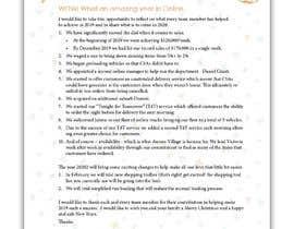 #17 для Edit and re-design professional christmas letter от ziauddin1973