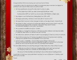 #45 для Edit and re-design professional christmas letter от anjanadutt