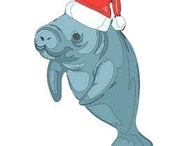 #44 for T-shirt design manatee with Christmas hat af AHMZABER11